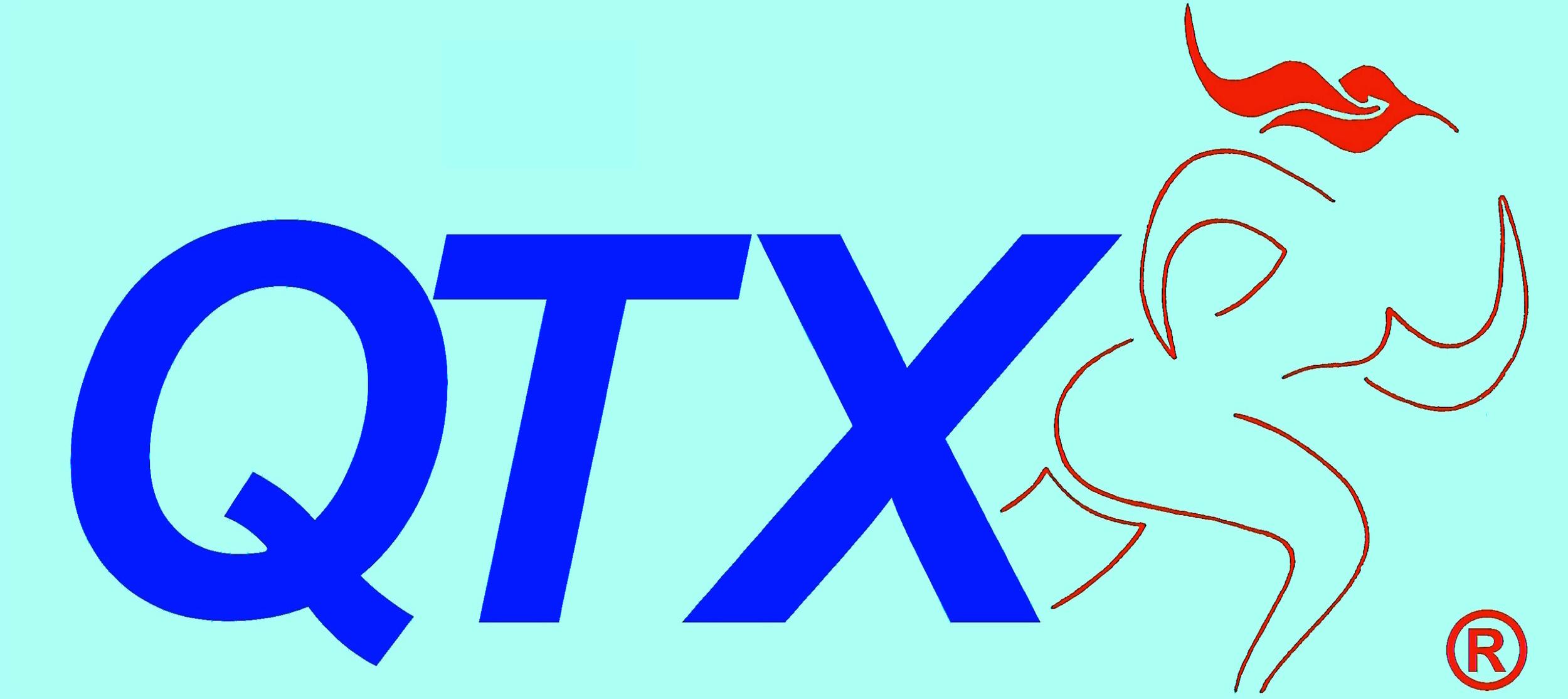 QTX registered trademark since 2013 ®- logo 1