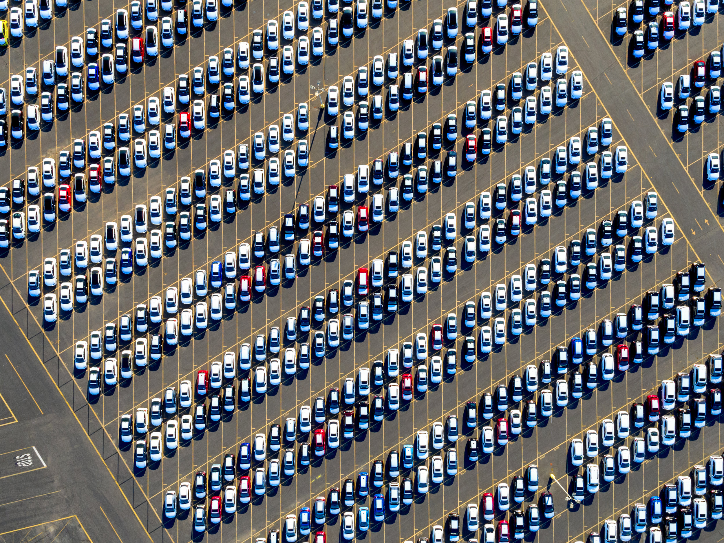 self distributed cars