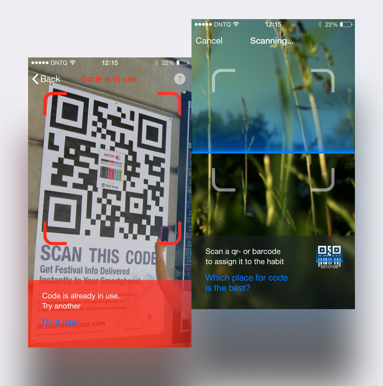 Scan screens