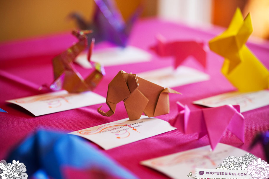 A Thousand Years of Happiness – A Paper Folding Wedding Table Plan | 607x910