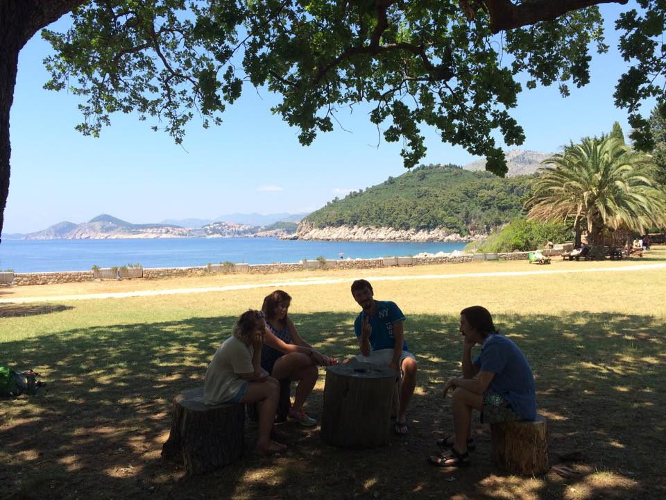 The outdoor classroom on the island of Lokrum.