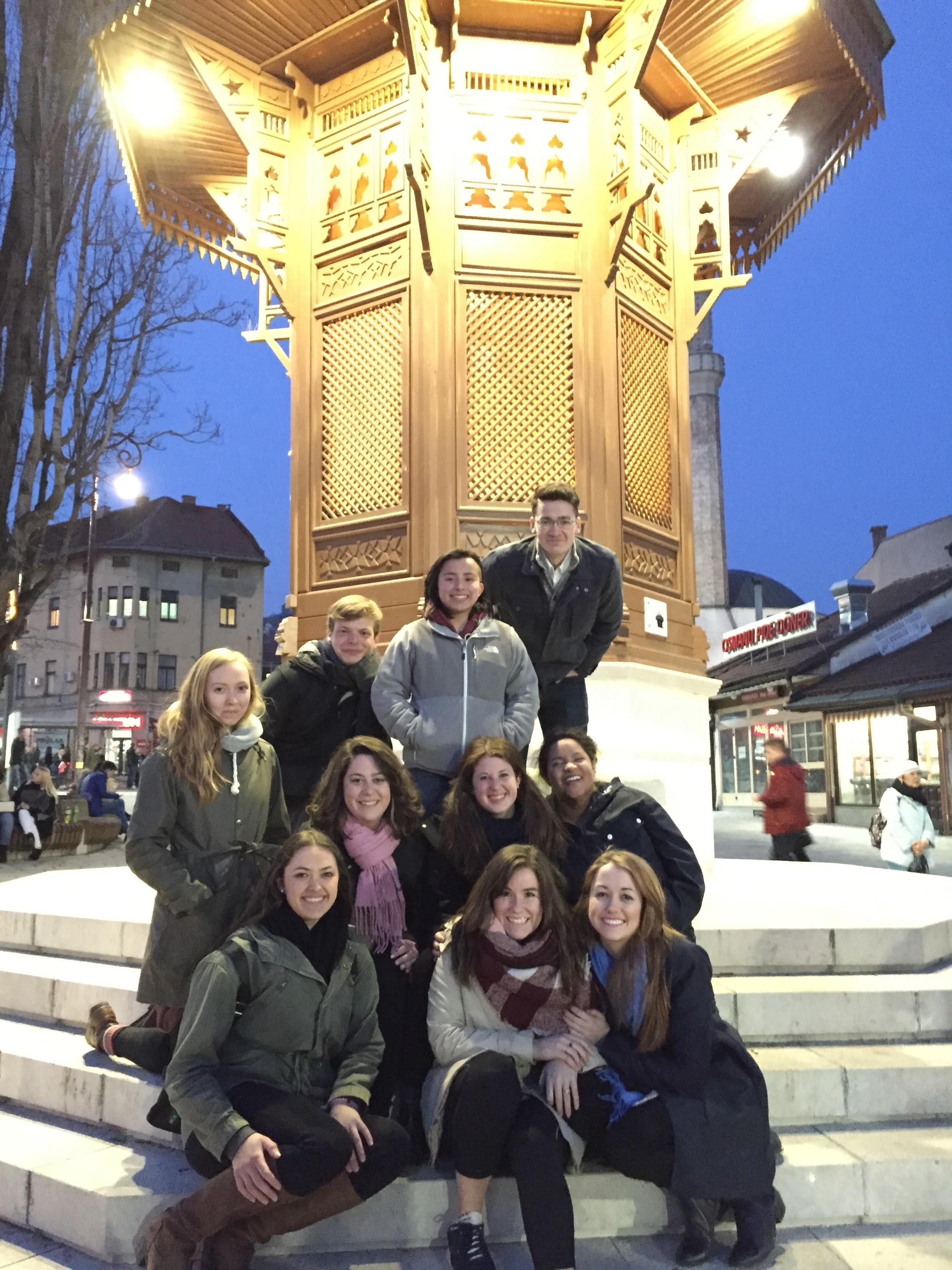 The group in Sarjevo