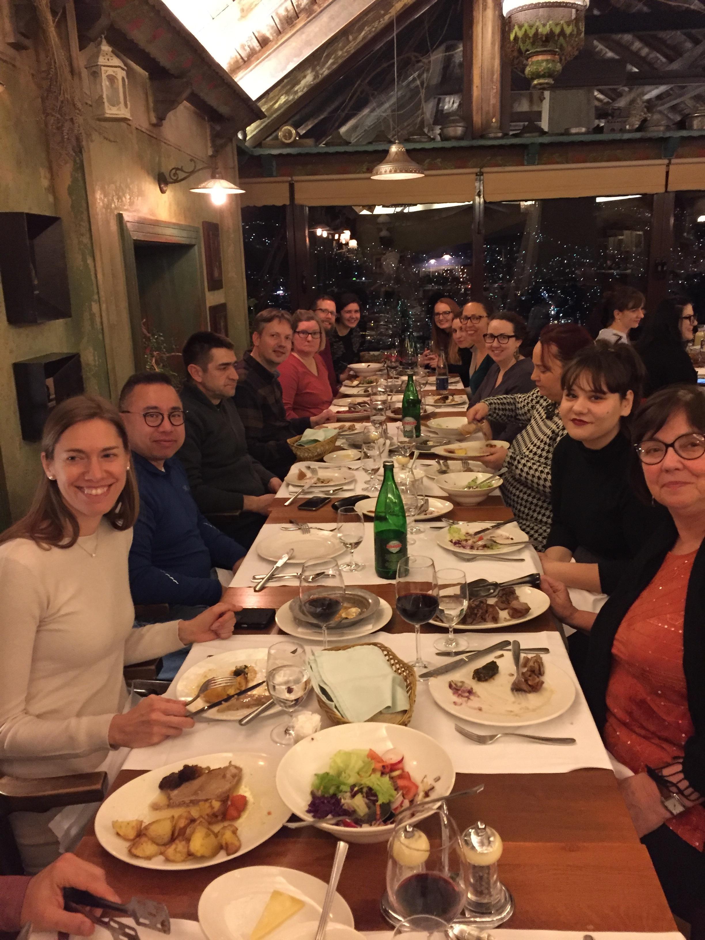 A crowd favorite is always dinner at Kibe's overlooking Sarajevo
