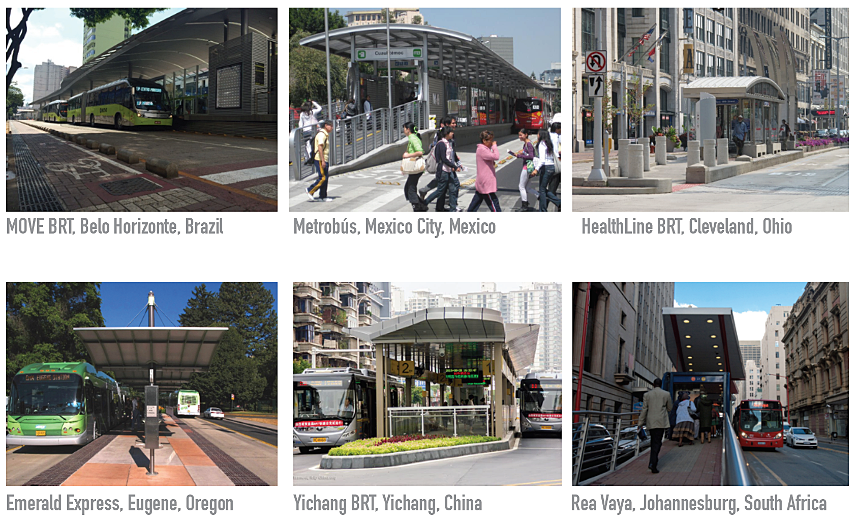 BRT Stations from around the world