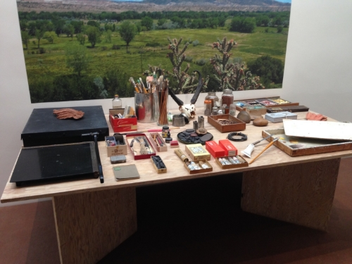 Recreation of O'Keefe's studio