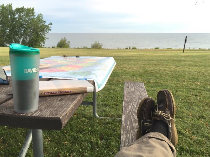 Chilling. Lake Ontario.