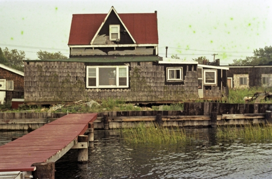 A ramshackle waterfront property