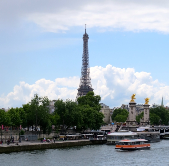 """We took the boat tour up and down the Seine. I kept thinking of the Judy Collins song,    """"My Father"""""""