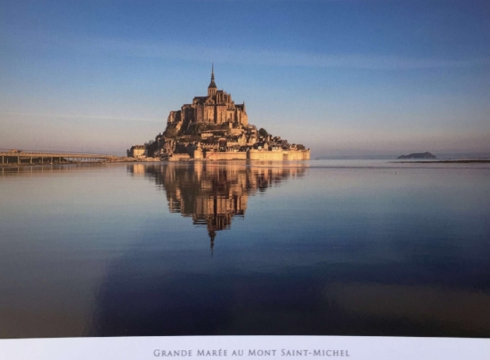 This was a monastery, and a great location for one, as at high tide it is an island, at low tide it could only be reached by crossing the mud.(Now,there is also a causeway.)