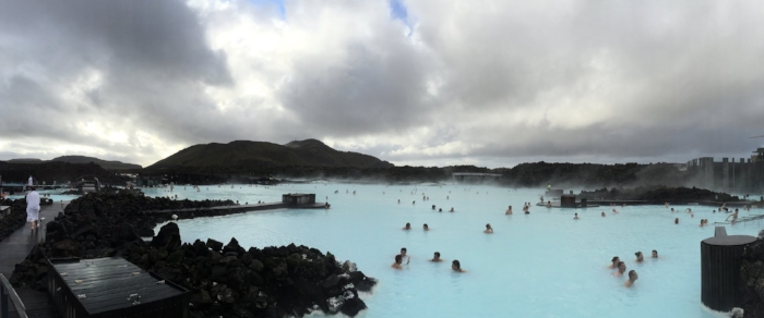 Here's a panorama shot. Really strange place. Fabulous to swim in it in the pouring rain!