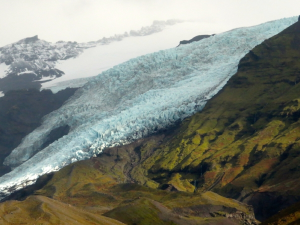 We continued getting closer and closer to the glacier.