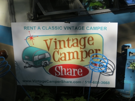 One of the sisters found her own camper not ready for this event, so searched online where she located this woman who delivered a really sweet vintage camper to our campground, with all the trimmings as it were, for a very nice price! I've included the company name and website above.