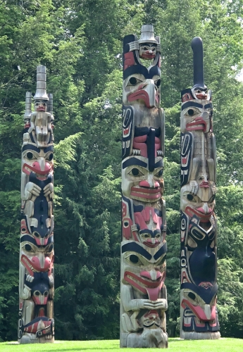 These totem poles speak to me of the Pacific Northwest.
