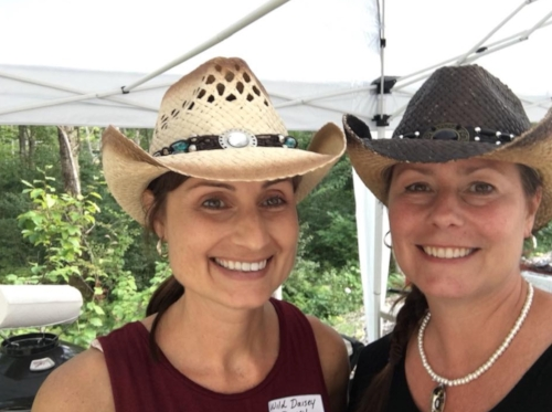 Here's our hostess, Michelle, with her sister-sister, Kari Doiron