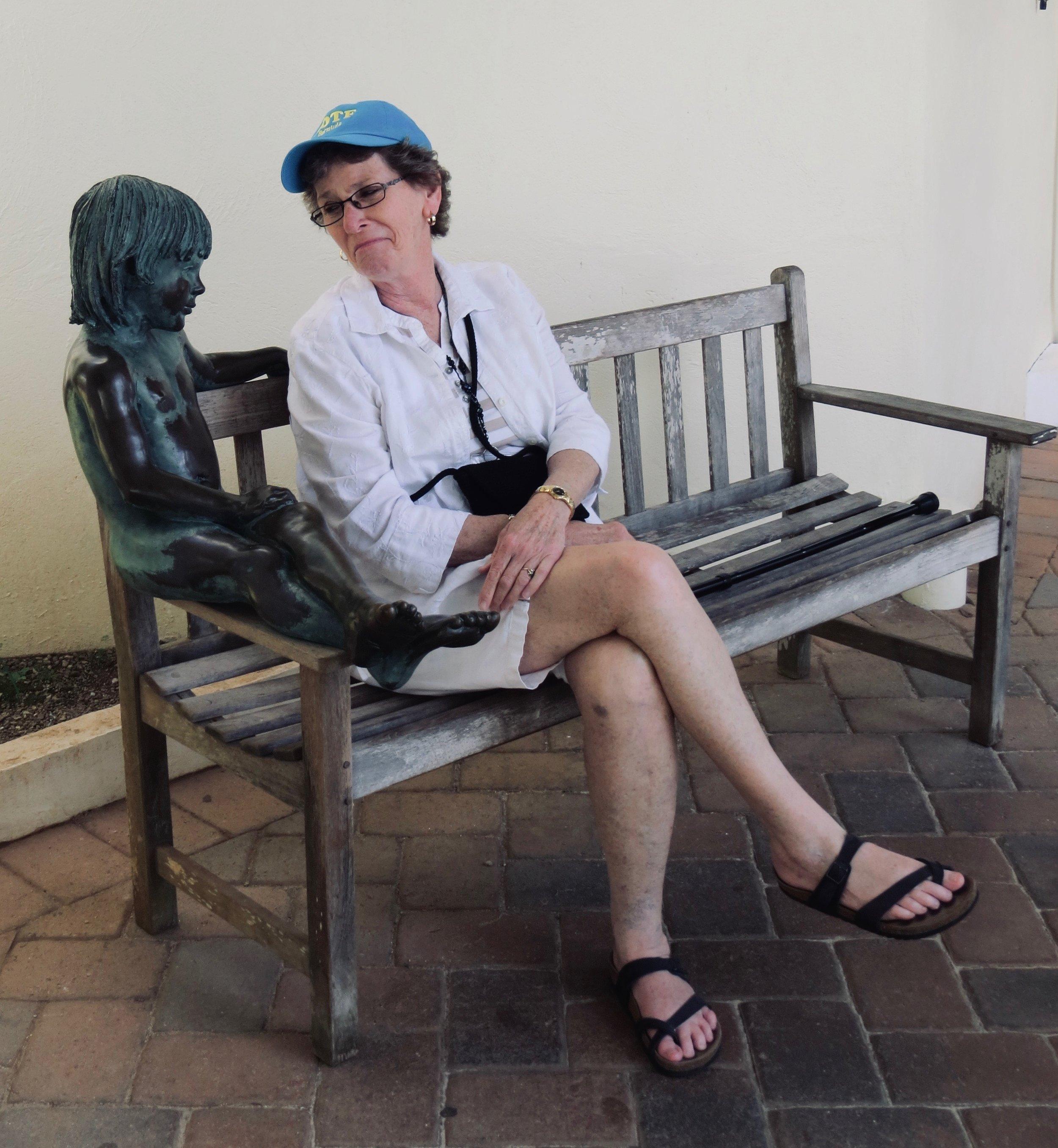 Here's Liz with a Bermudie Nudie.