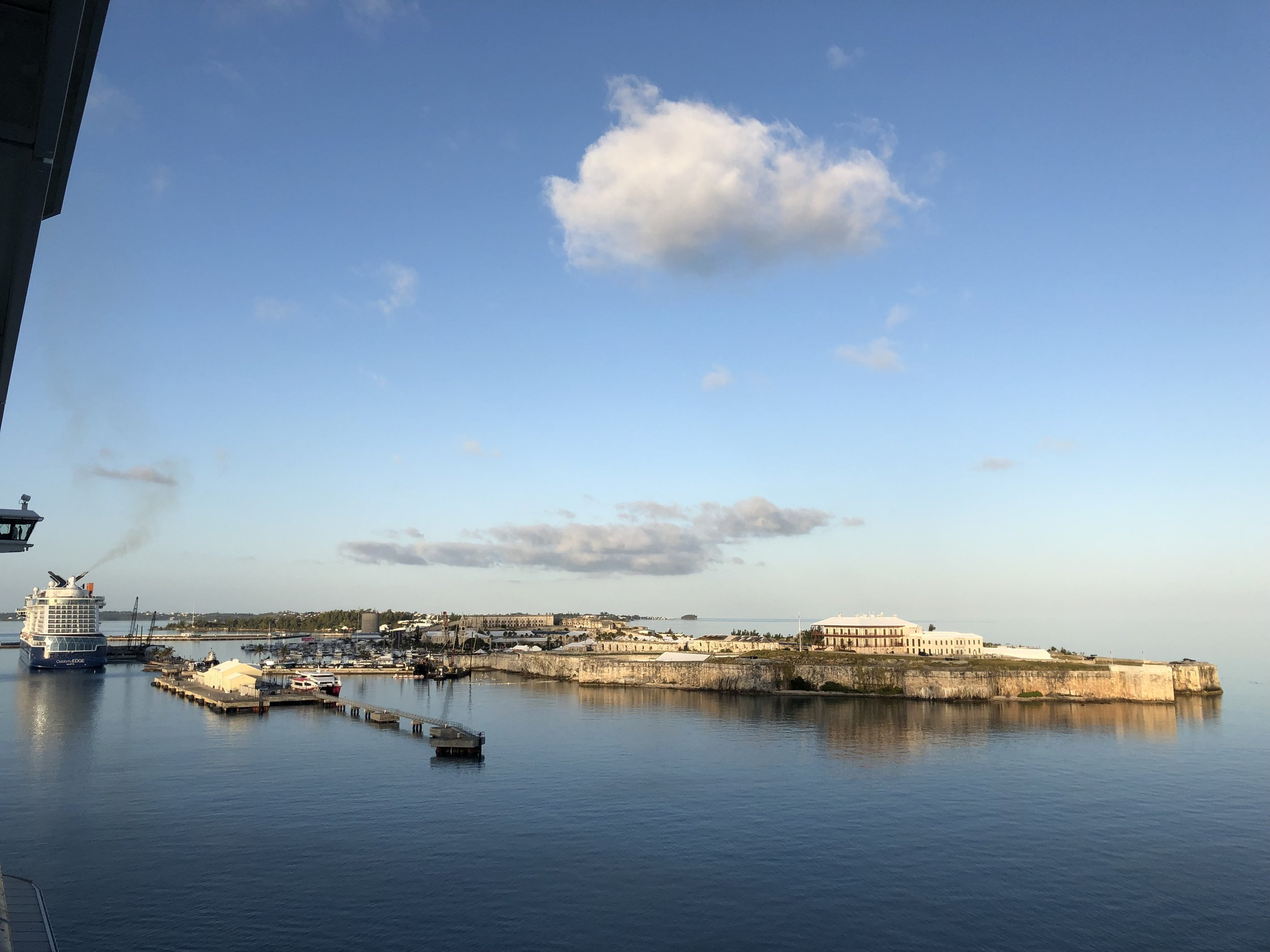 The Royal Naval Dockyard is the deepwater port where we docked.
