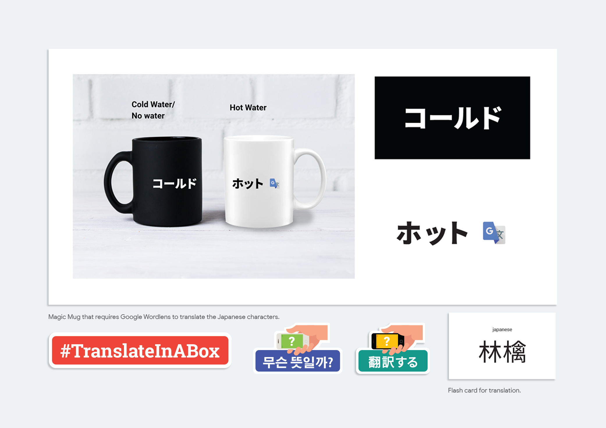 Translatable designed items.