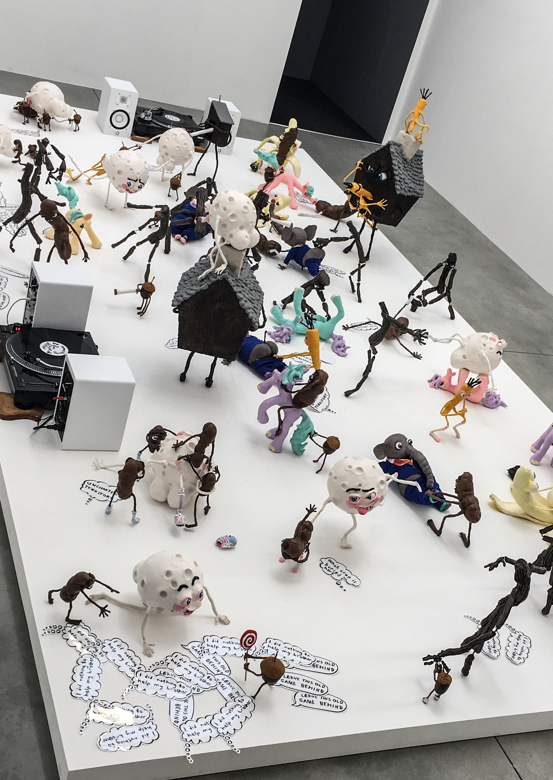 Installation view of 'Who am I to Judge, or, It Must be Something Delicious'