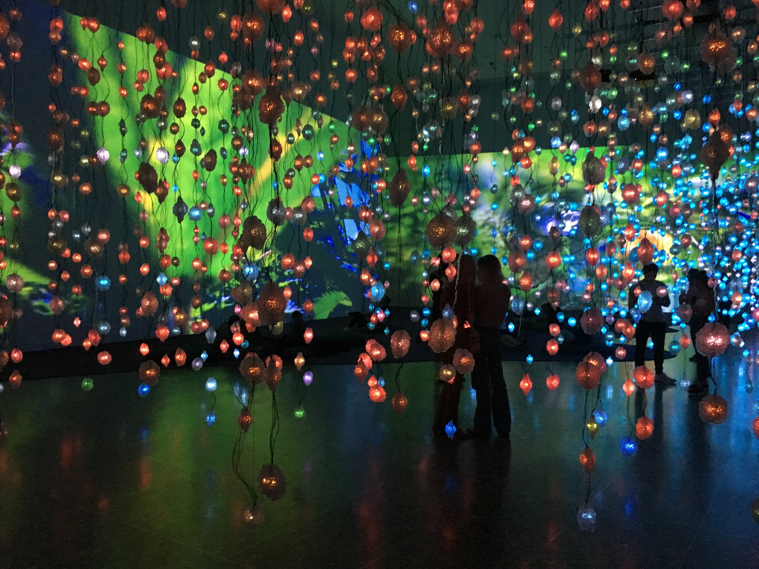 Pipilotti Rist,  Pixel Forest and Worry Will Vanish , 2016 and 2014