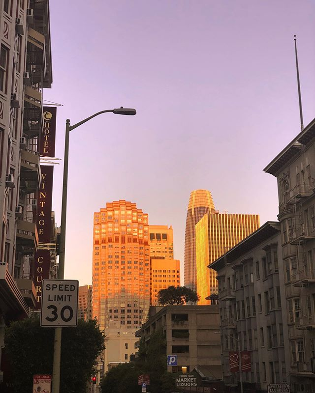 golden hour in the golden state