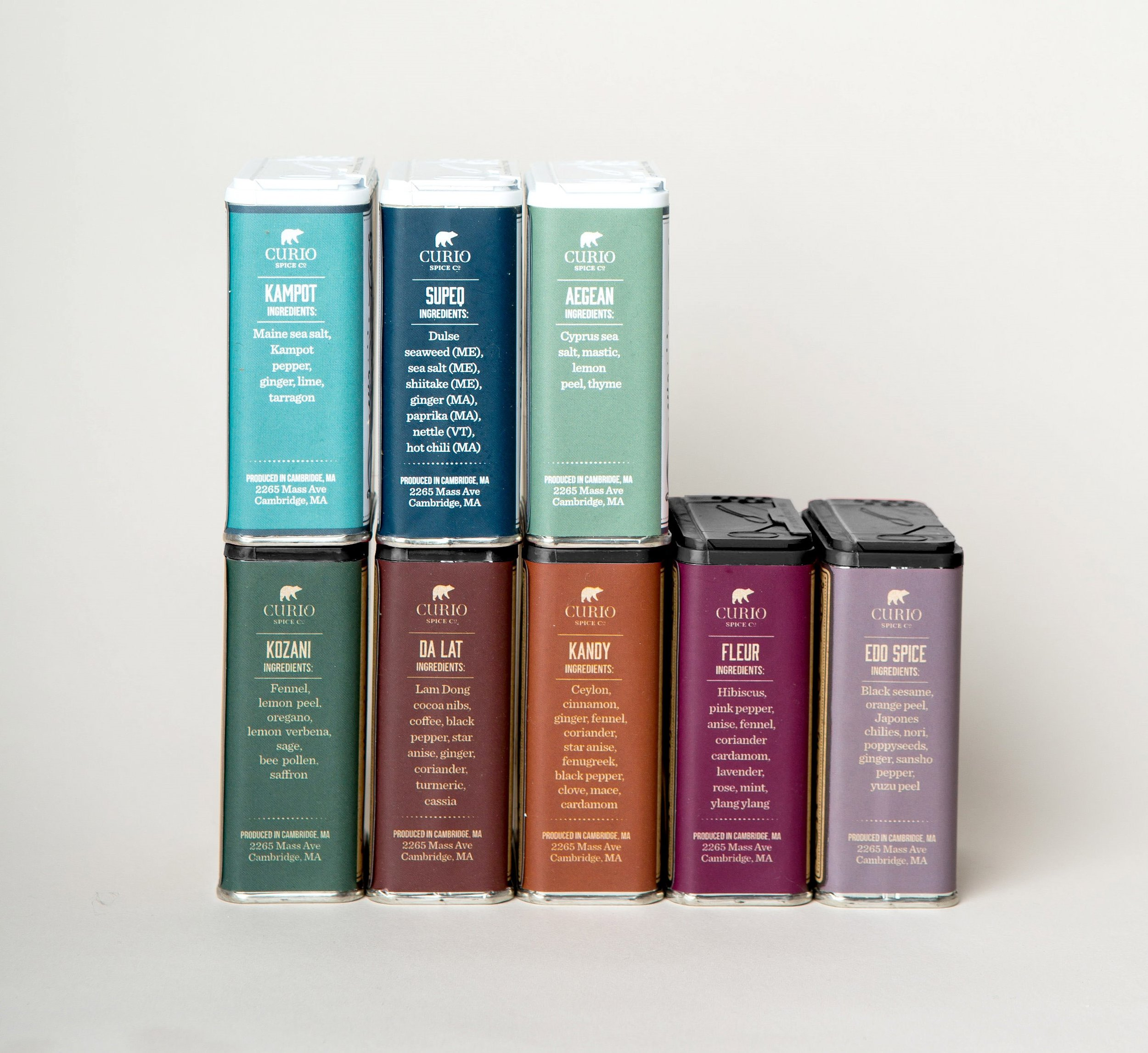 8-Tin Chef's Pack - all 8 of our signature blends with recipe cards in a lovely box with a ribbon.