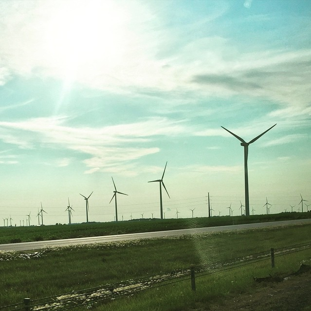 Karen's cool windmill pic posted on her Instagram!