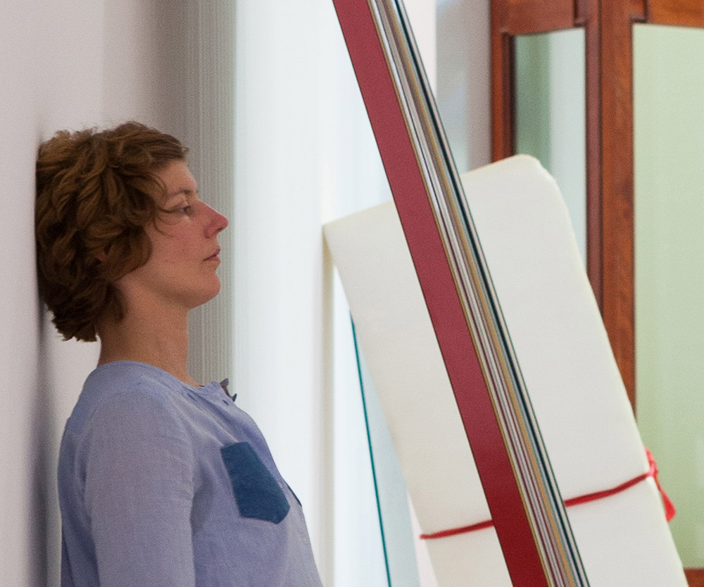 Bettina Buck, during a performance of  Another Interlude  at Galleria Nazionale d'arte Moderna, 2014. Photo by Martin Eberle. © Bettina Buck, 2016.
