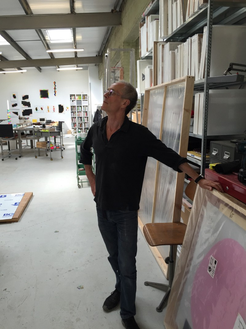 David Batchelor in his studio