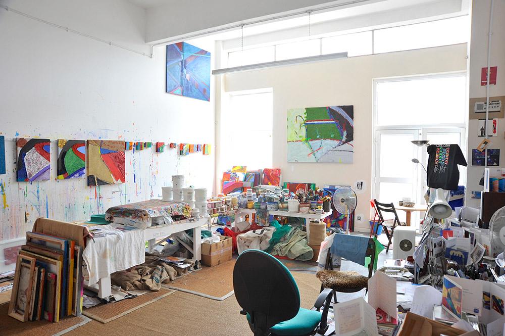 The studio of artist Anthony Frost. Photo © Brian Benson, 2015.