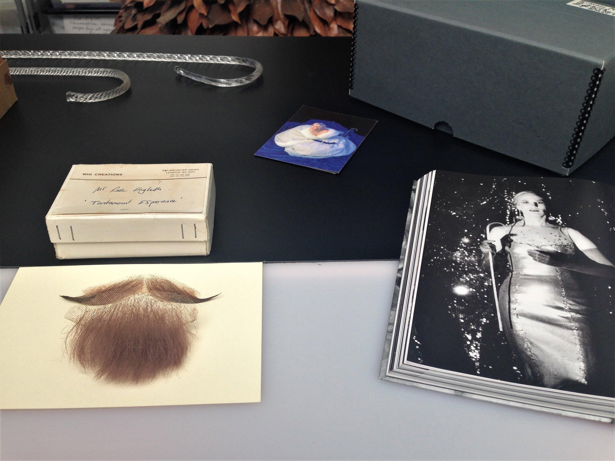 Rose English, Moustache and beard worn in 'Tantamount Esperance', 1994