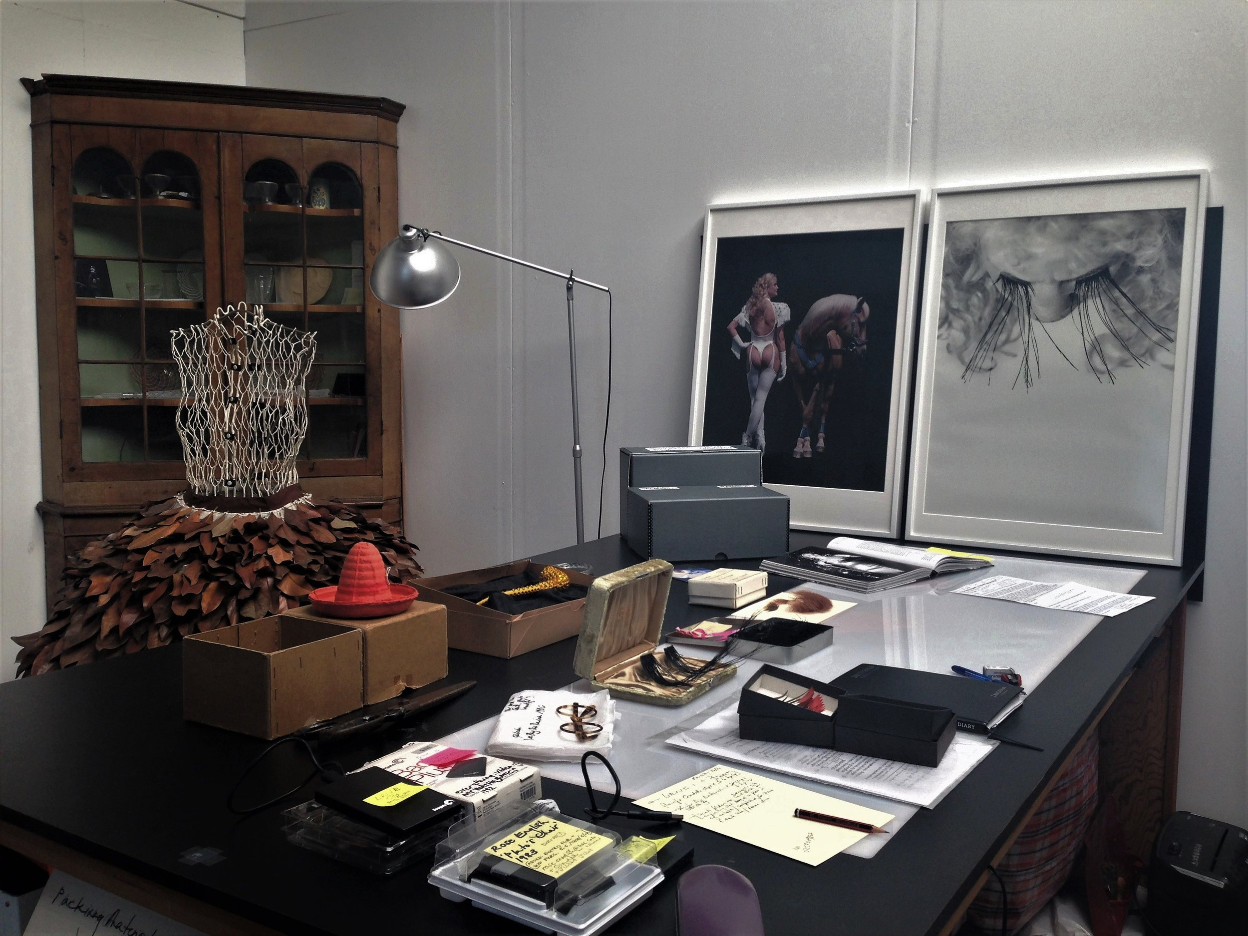 Works from the archive, the studio of Rose English
