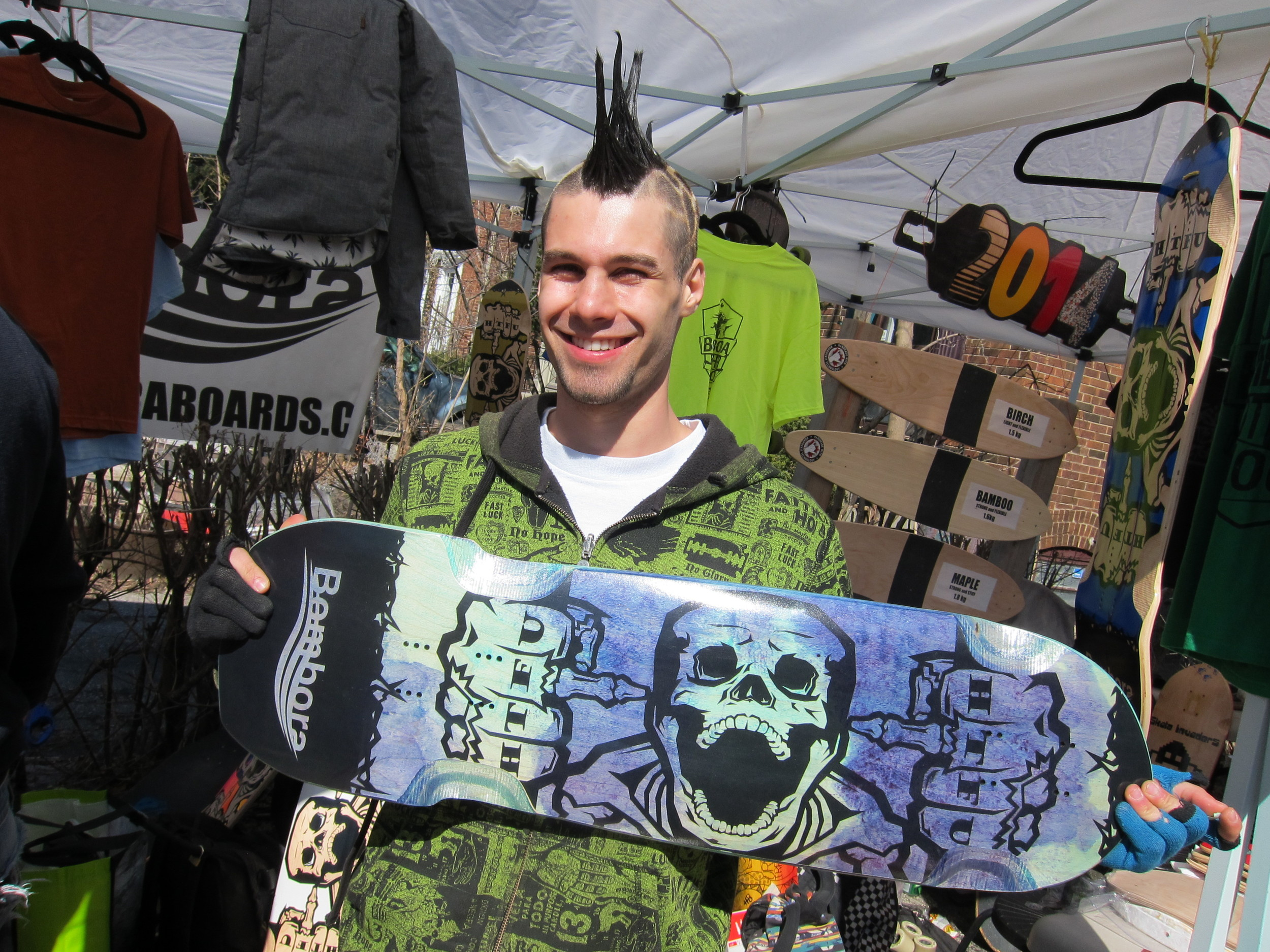 Brad, loving his new Bombora Board. Photo - Ponyta 2014
