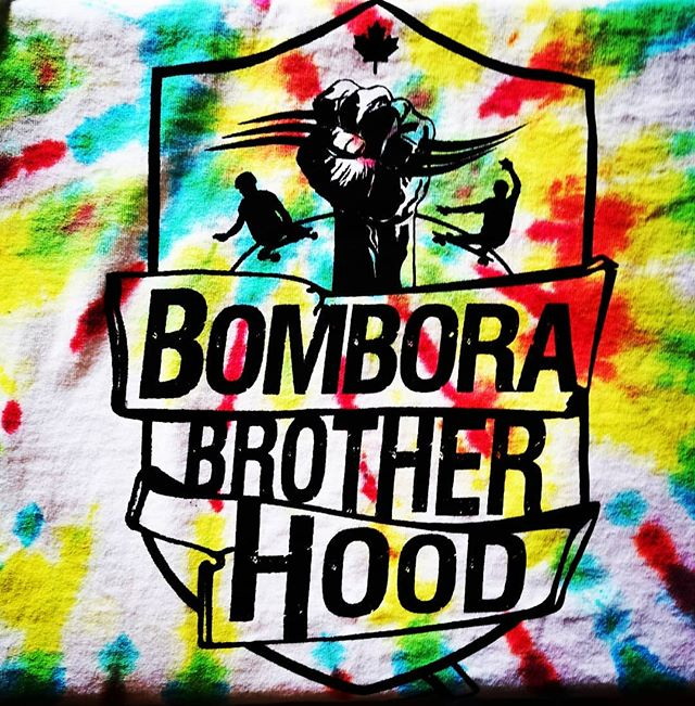 We will have a fresh run of #bomborabrotherhood shirts available tomorrow at #swap12 including some funky #Tiedye ones.