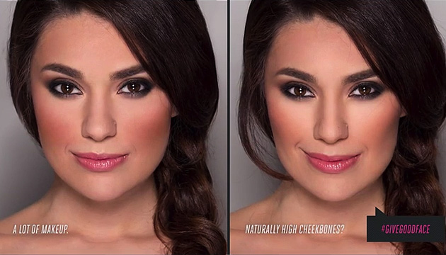 By Jordan Liberty: Left is using bronzer as a contour, Right is using a cool-grey toned shade as contour