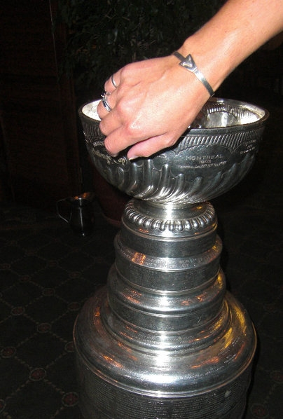 With the Stanley Cup