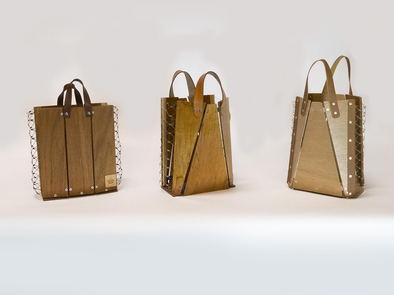 The evolution of the Market Bag. Version 1, circa 2012; version 2, circa 2014; current Market Bag, released 2015.