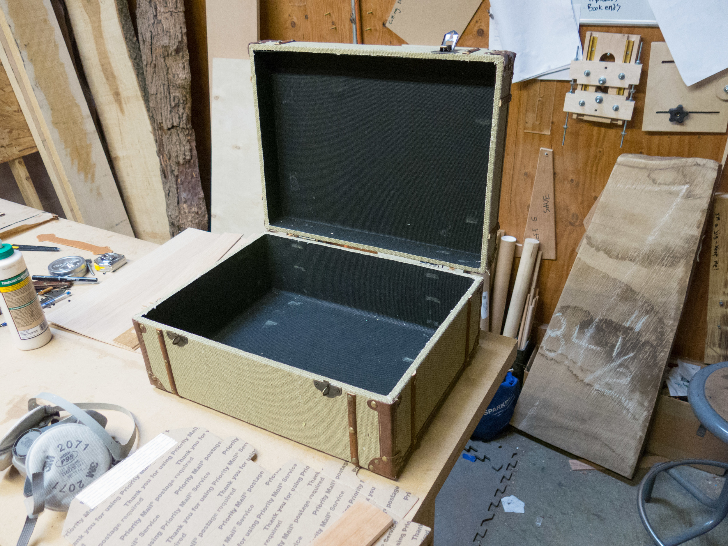 Starting point - suitcase straight out of the box