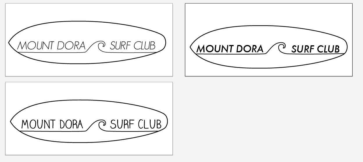 First round of design options