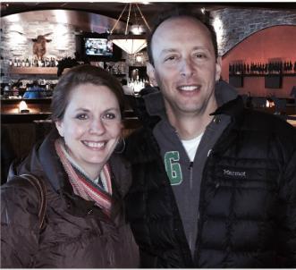 Anya Ciecierski & Dave Foreman on the third time we met in person. (Winter 2014)
