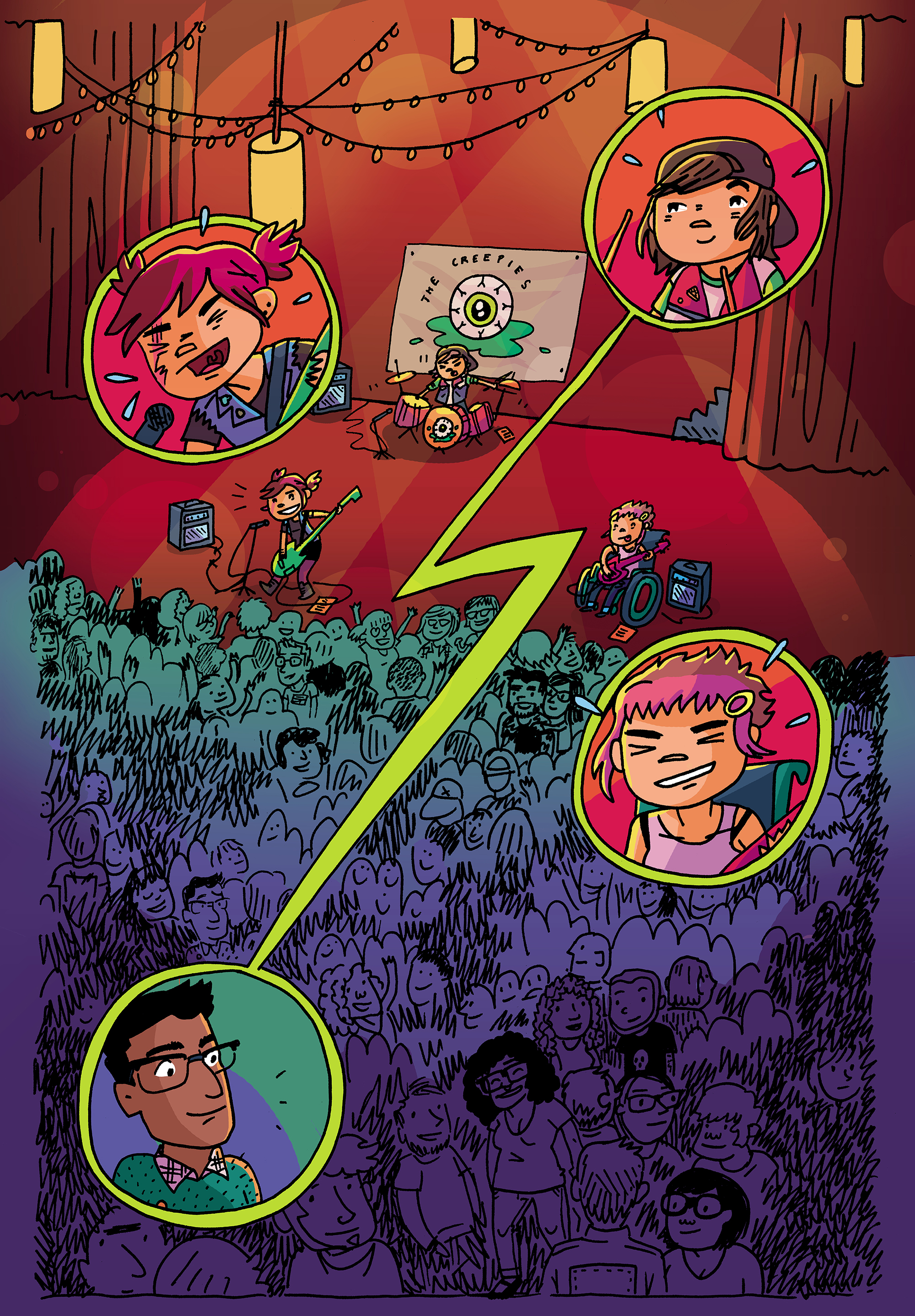 Colors for Coady and the Creepies Issue #1 (Boom! Box) – Art by Amanda Kirk