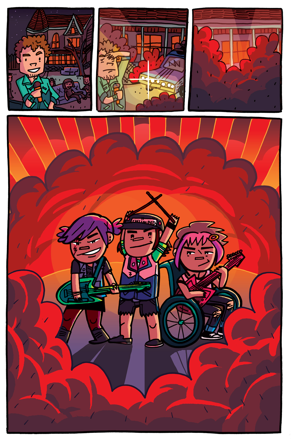 Colors for Coady and the Creepies Issue #2 (Boom! Box) – Art by Amanda Kirk