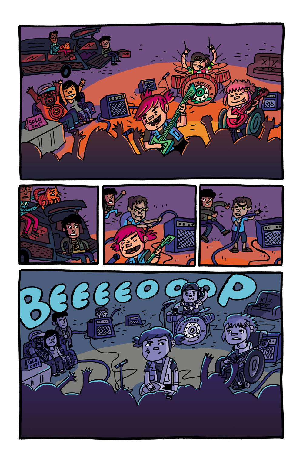 Colors for Coady and the Creepies Issue #3 (Boom! Box) – Art by Amanda Kirk