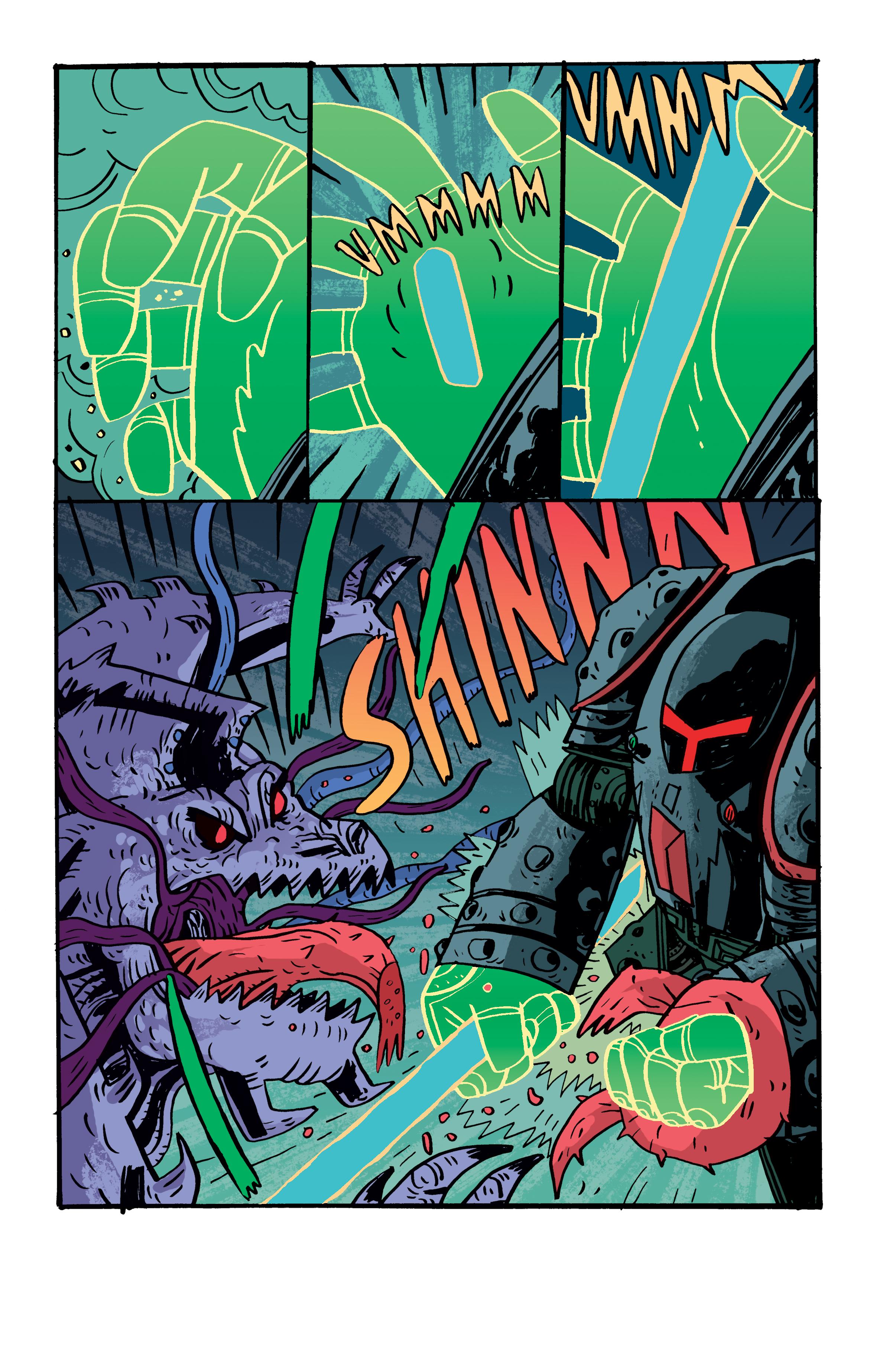 Colors for Samurai Jack: Quantum Jack #3 (IDW) – Art by Warwick Johnson Cadwell