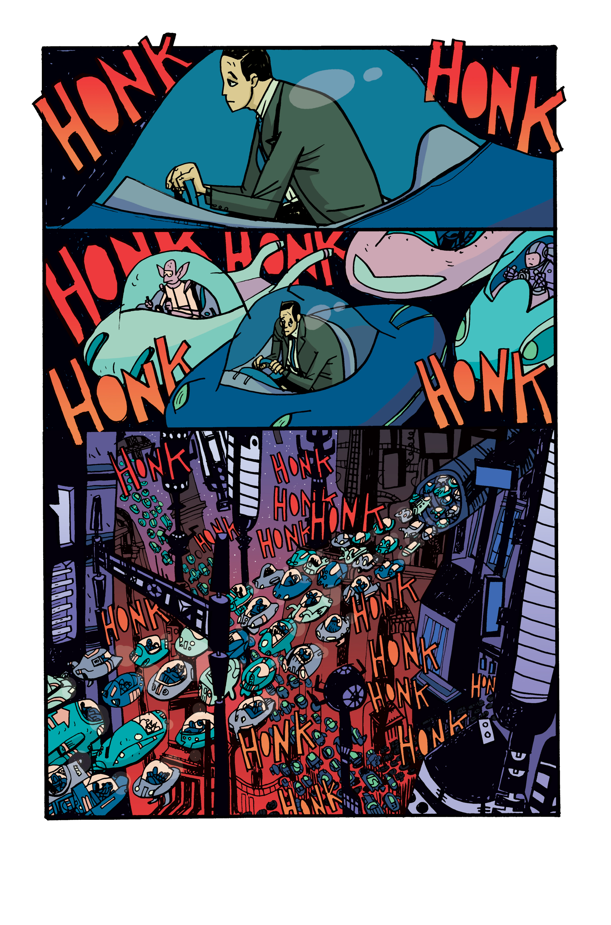 Colors for Samurai Jack: Quantum Jack #4 (IDW) – Art by Warwick Johnson Cadwell