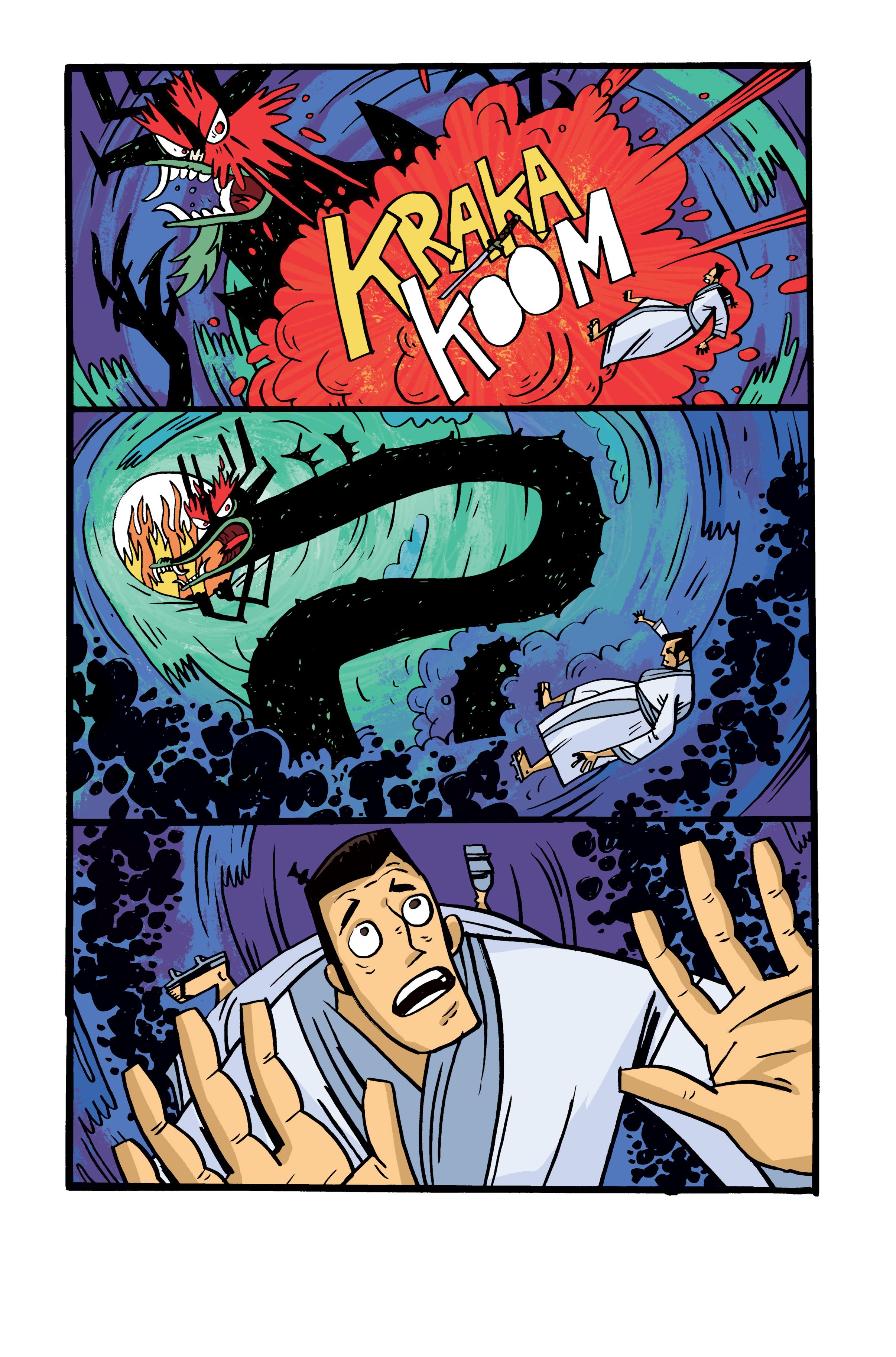 Colors for Samurai Jack: Quantum Jack #5 (IDW) – Art by Warwick Johnson Cadwell