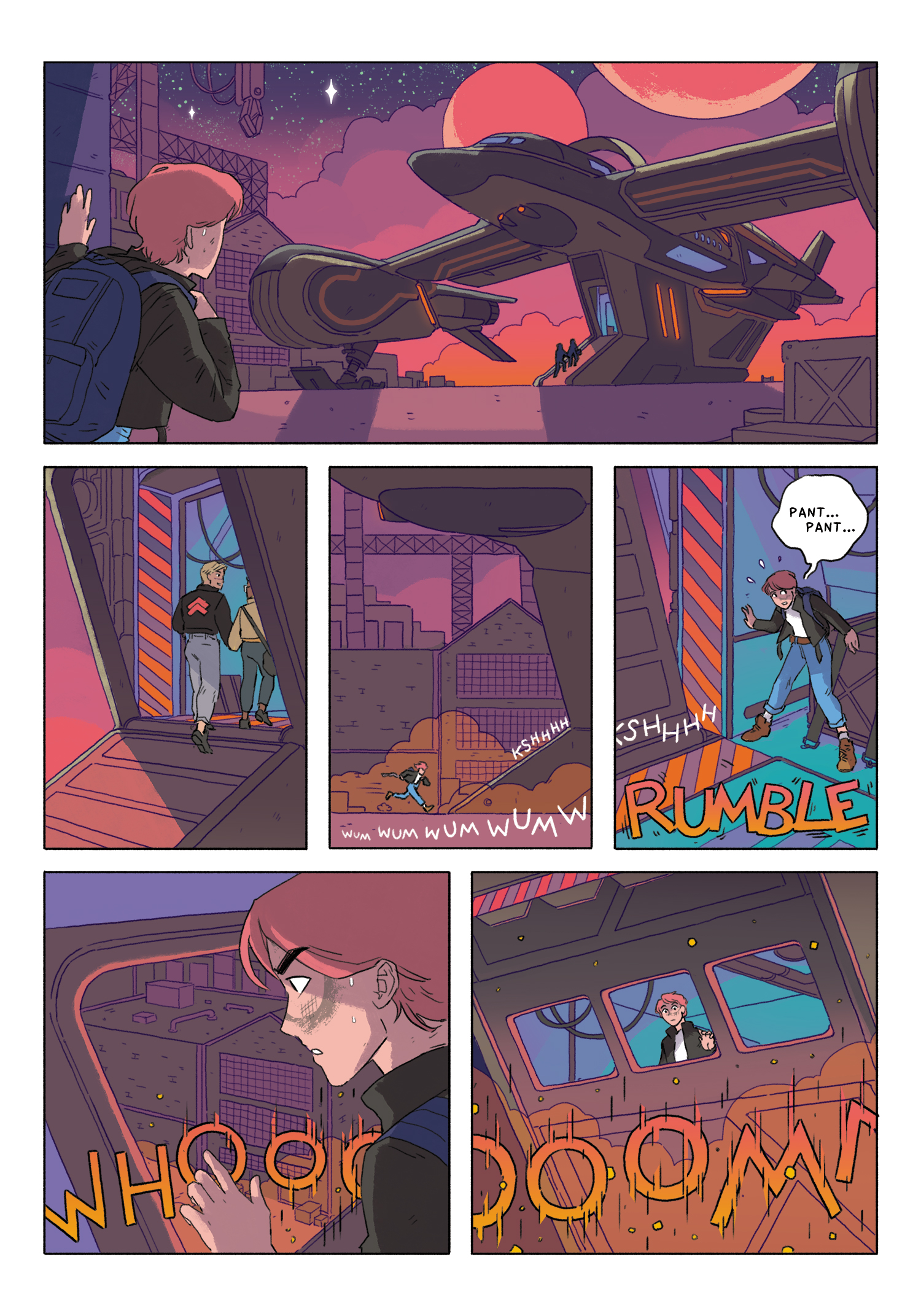 Page 67  - Cosmoknights  - Top Shelf Productions  Read the whole thing online at  cosmoknights.space