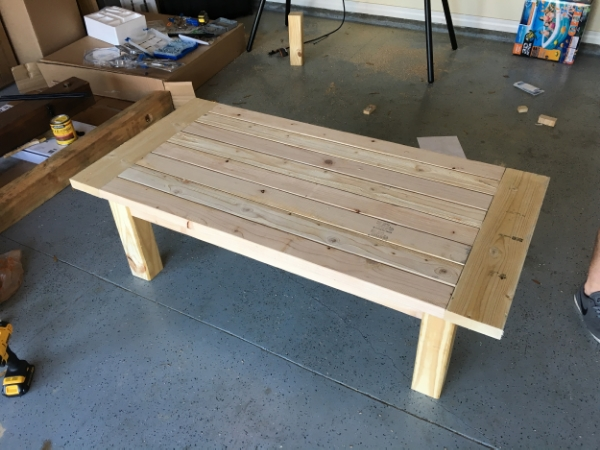 finished unfinished coffee table