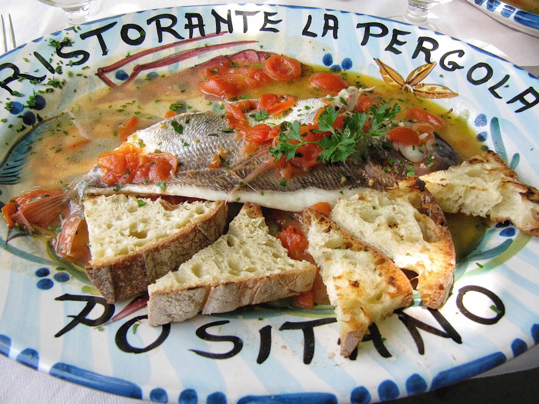 Acqua pazza style fish, Buca di Bacco, Positano