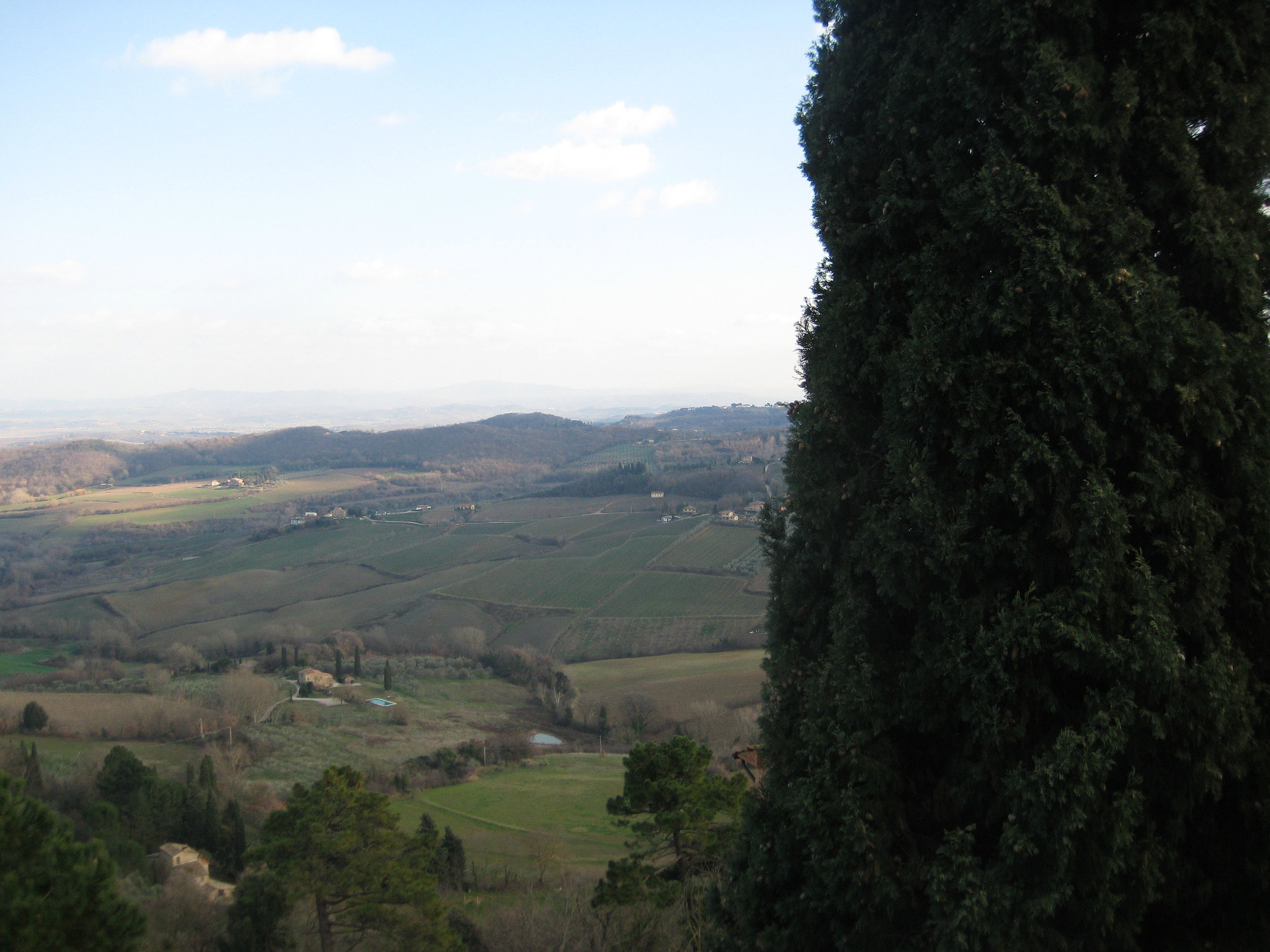 The view from Montepulciano