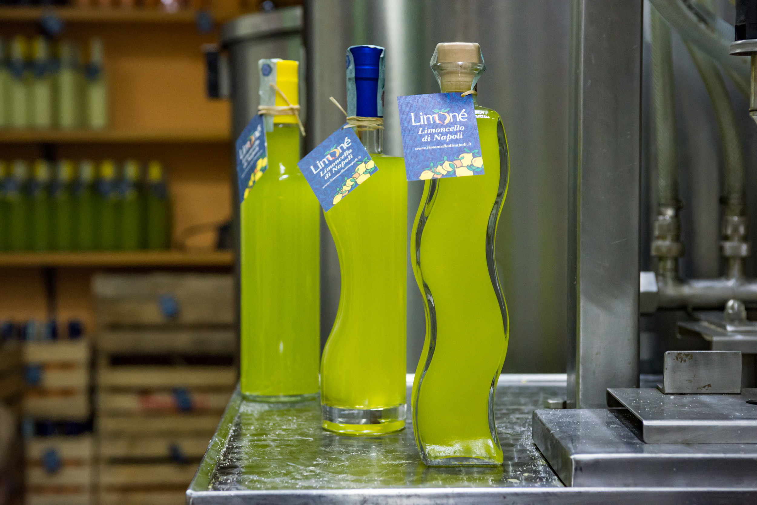 Freshly bottled Limone Limoncello